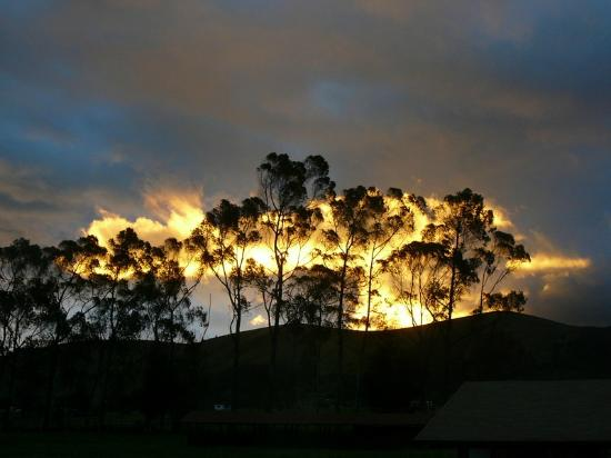 Chuquiragua Lodge & Spa: Fabulous sunset from the dining room window