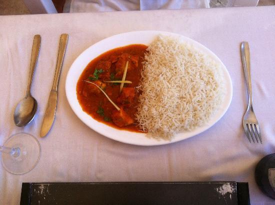 Jaipur - menu del dia main - chicken madras & pillao rice