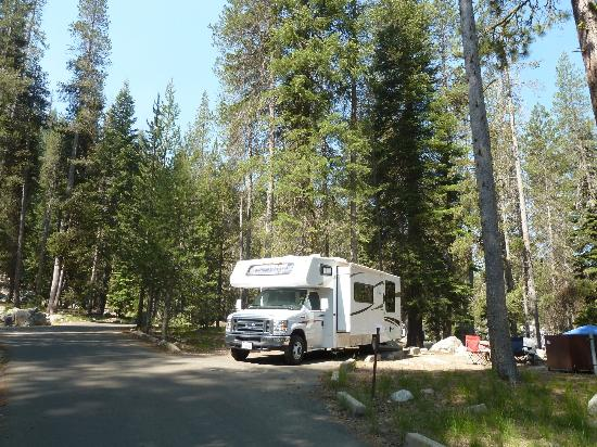 RV parked at Lodgepole Campground