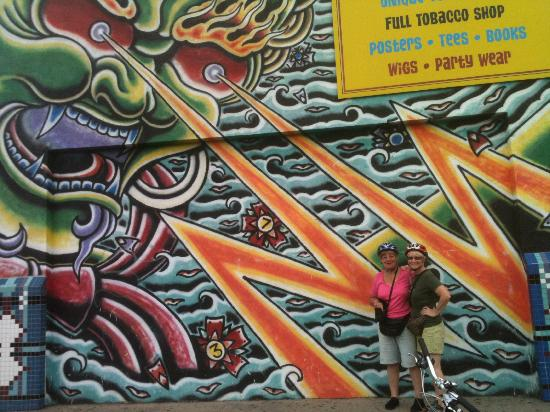 wall art at Little 5 Points - Picture of Bicycle Tours of Atlanta ...