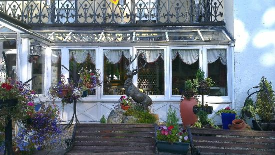 Strathpeffer Hotel: View from the left of hotel, loved the stag