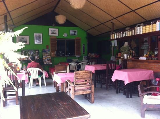 The Green Oasis: The bar & restaurant & living room & Tony's TV room