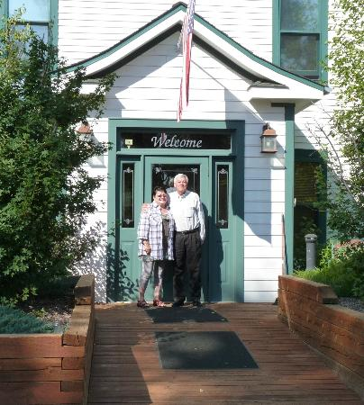 "The Historic Elk Mountain Hotel : Outside the main entrance. ""Welcome"" doesn't really do it justice!"