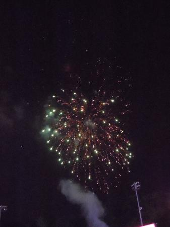 Hilton Harrisburg: Fireworks after the game