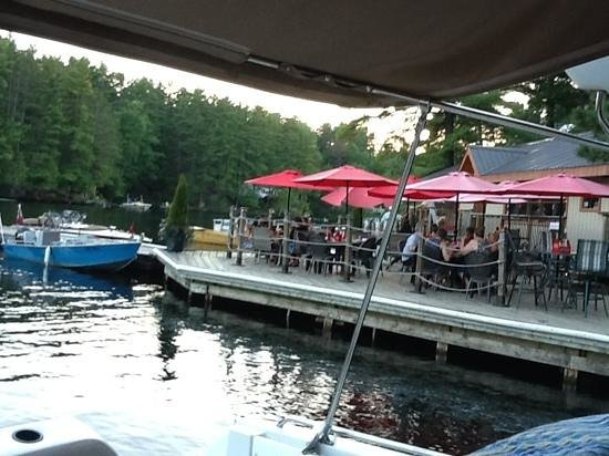 the patio at the Waubic.