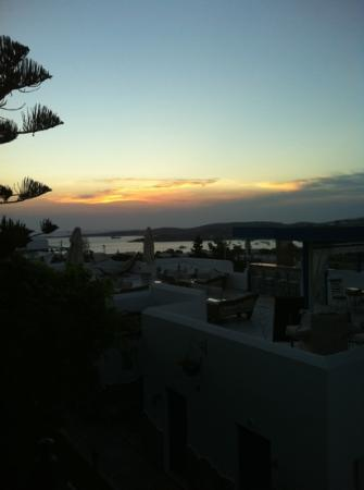 Paros Palace: the sunset from our room