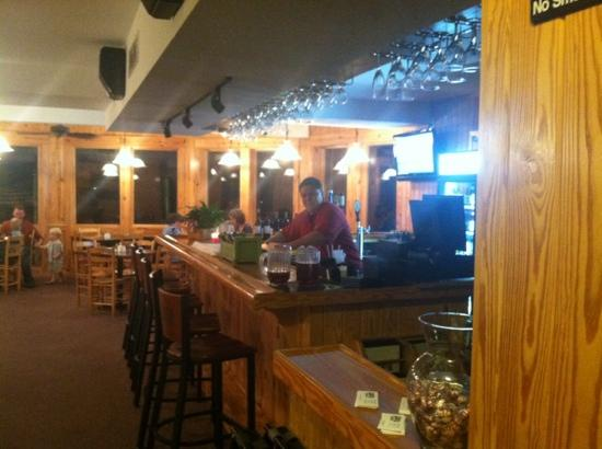 Stripers Bar and Grille: Tom at the bar.