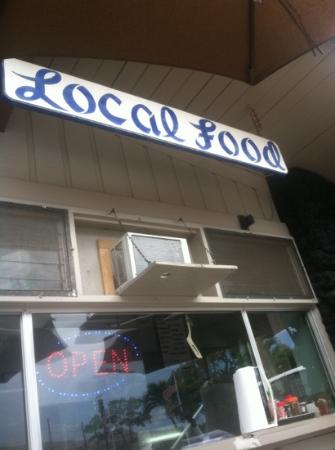 Local Food: the sign