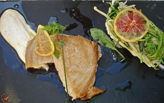 Chateau Grand Barrail: Red Tuna with Smoked Yogurt Sauce