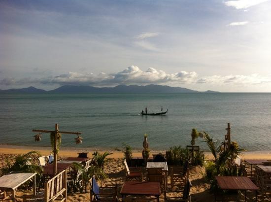 Florist Resort : playa y restaurante del hotel