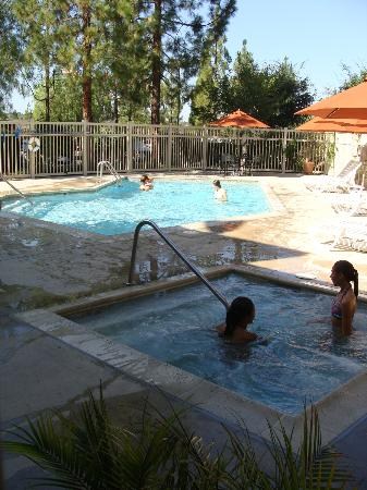 Ayres Lodge Alpine: Pool & jacuzzi
