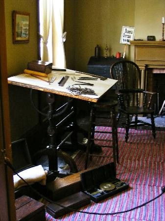Gibson House Museum: David Gibson's surveying tools