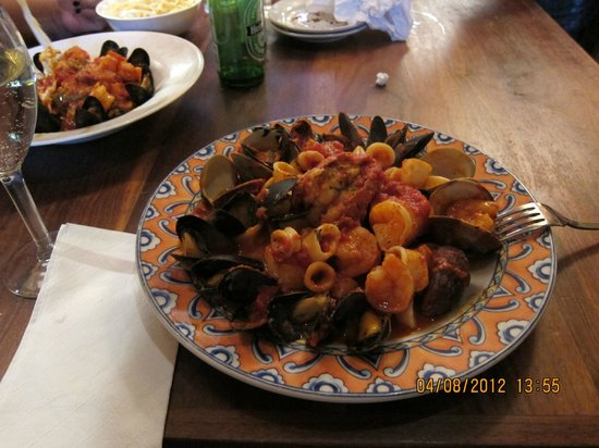 Tosca Cafe: seafood pasta