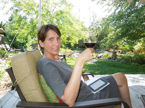 Ludington, MI: A glass of wine while reading and relaxing.....
