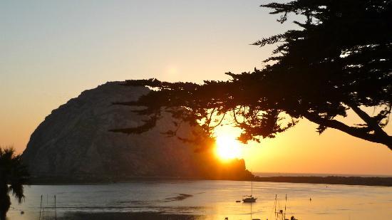 Morro Bay, CA: couché du soleil
