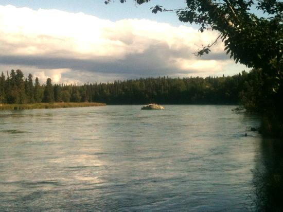 Kenai River Retreat: View from river side