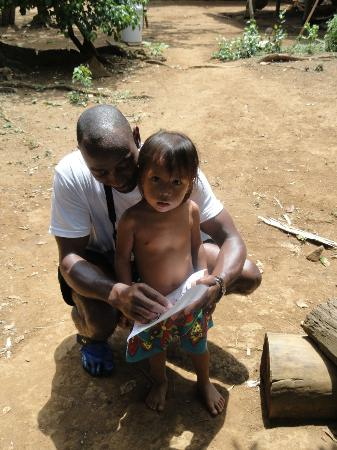 Embera Tours Panama: Myself and an Embera Kid