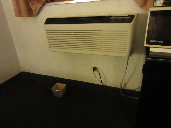 EconoLodge & Conference Center: Leaking air conditioner