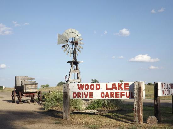 Wood Lake sign