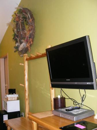 River Rock Inn & Bait Shop: Flat screen TV