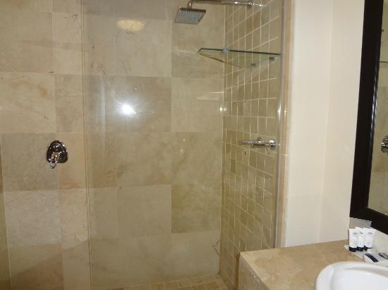 Belaire Suites: Huge spacious bathroom- ODD shower though