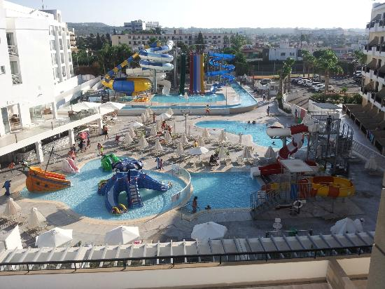Anastasia Beach Hotel: Waterpark view from balcony
