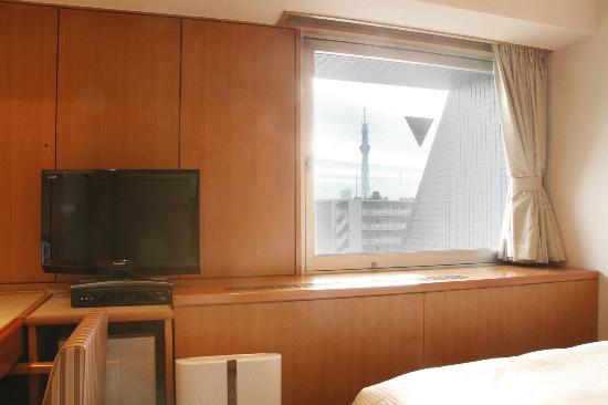 Vessel Inn Ueno Iriya Ekimae : 客室からのスカイツリー
