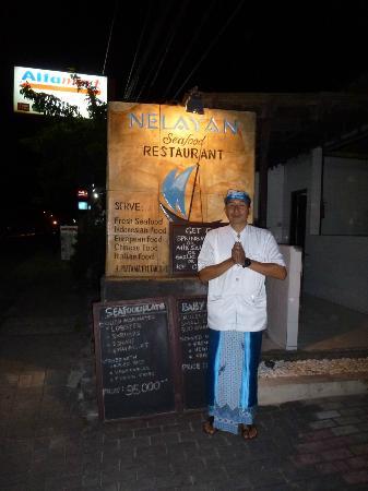 Nelayan Seafood Restaurant: accueil sympathique