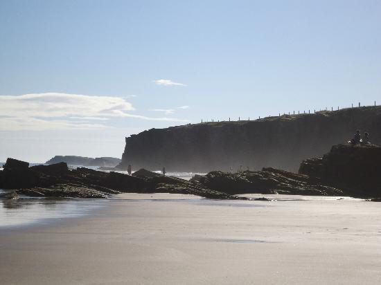 Playa de las Catedrales: bajando