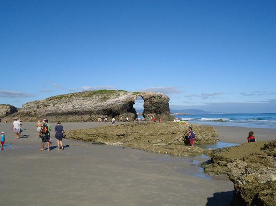 Playa de las Catedrales: sin marea