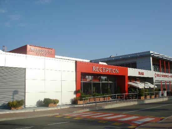 Hotel Maranello Village The Entrance Of Ferrari Red