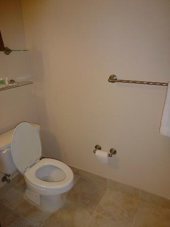 "River Inn of Harbor Town: Photo 2 of ""luxury"" (according to hotel) bathrooms"