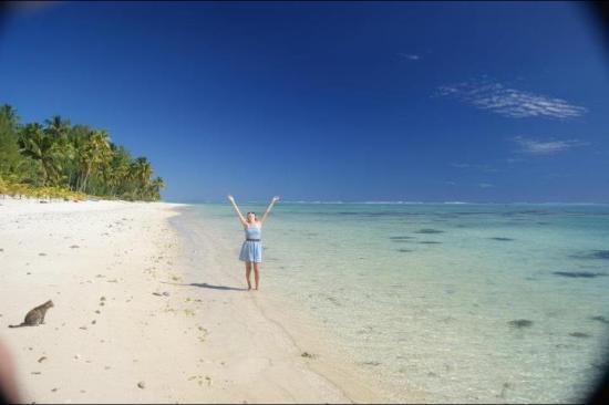 Aitutaki Beach Villas Me At The Outside