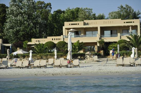 Sani, Grécia: View on the suite from the sea