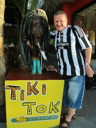 TIKI TOK BAR: Look out for the Restaurant sign on the street.