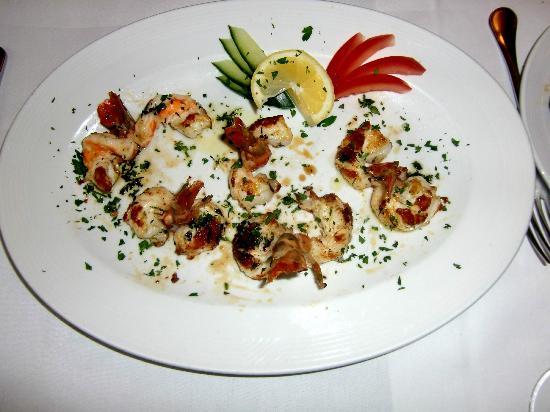 Trattoria La Casa Vecchia: SCAMPI ALLA GRIGLIA - Garnelen vom Grill, eine verführerische Köstlichkeit
