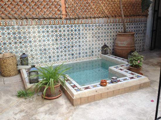Riad Ineslisa: Courtyard pool