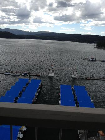 The Coeur d'Alene Resort: View from our window.