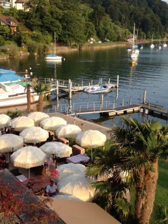 Seehotel Sternen Horw: restaurant from balcony