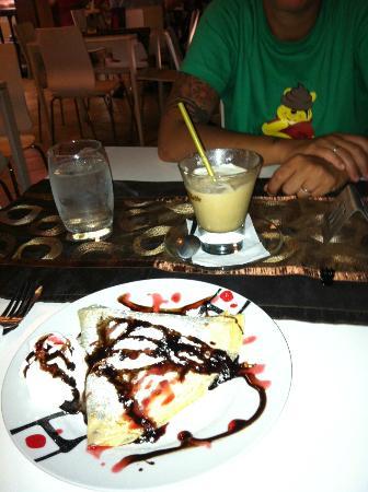 Smile Terraza del Mar: CREPES E CREMA DI CAFFE' FREDDA