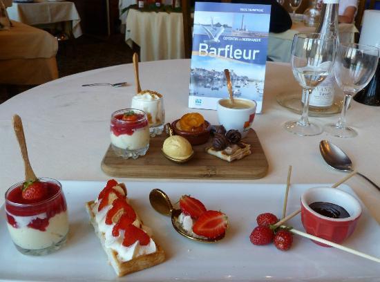 Barfleur, Francia: Variété autour de la fraise et café goumand