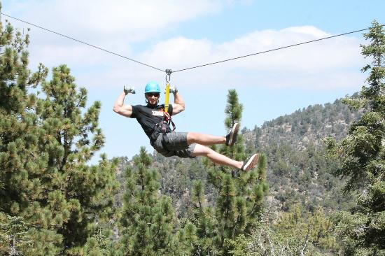 Big Bear Lake, CA: zipping through the trees!