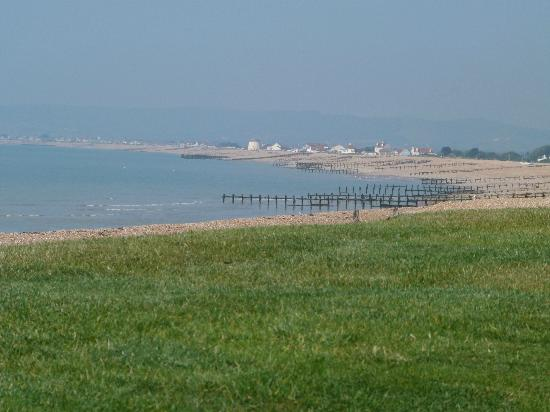 The Cooden Beach Hotel: A view towards Eastbourne from the beach