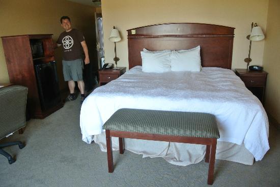 Hampton Inn Watertown: Bett - etwas weich...