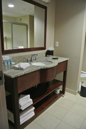 Hampton Inn Watertown: Badezimmer