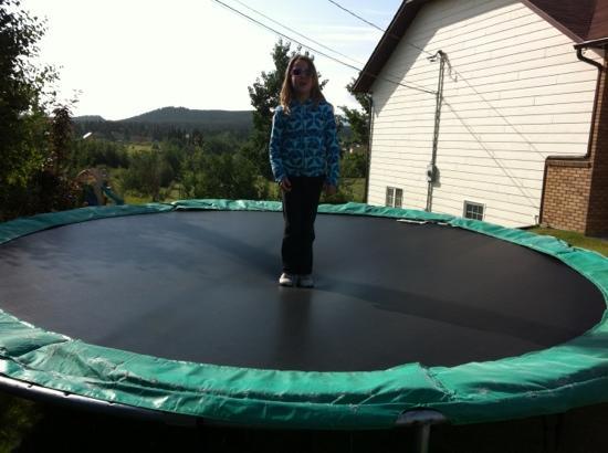 Versleuce Meadows B&B: trampoline