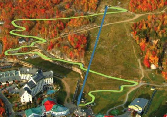 Skyline Luge Mont-Tremblant : Mont Tremblant luge track