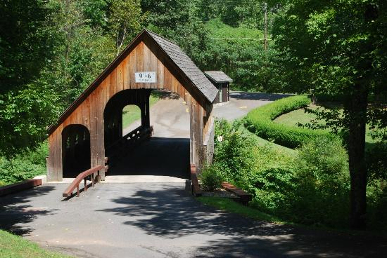 The Belleayre Beach at Belleayre Mountain: Covered Bridge Entrance into the Park