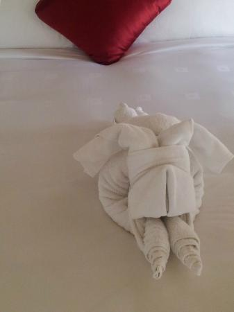 Banyan Tree Ras Al Khaimah Beach: Amusing towel arrangement