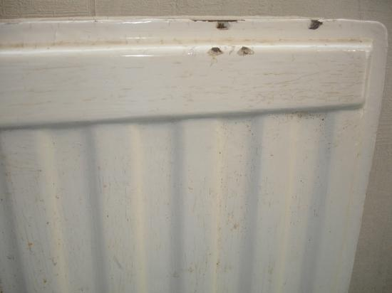 Barrowfield Hotel: Rusty/Chipped Radiator